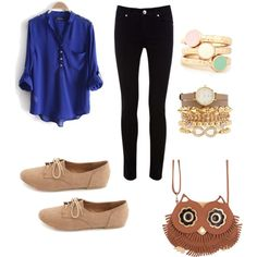 cute casual outfit for school ....... Dont want to go overboard with to much accessories  but a bracket and that is fine  this is very nice for a nite out ✌