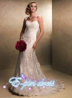 wedding dress lace wedding dress mermaid style wedding dress custom size 1104005 on Etsy, $189.00