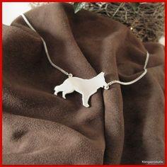 #Deutscher #Schäferhund Halskette in #925er #Silber, NEU