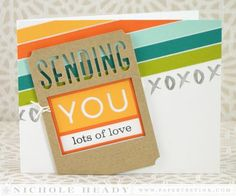 Lots Of Love Card by Nichole Heady for Papertrey Ink (July 2014)