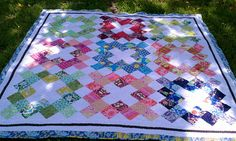 granny square quilt using charms