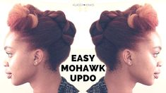 Easy Mohawk Updo | Natural Hair