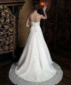 wedding dresses a line wedding dresses wedding dresses vintage a-line/princess strapless chapel train wedding dress forbrides 2014 style