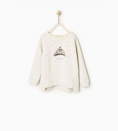 Image 1 of Crown sweatshirt from Zara