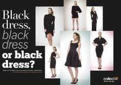 CollectPlus DPS for Dawson Pickering Make It Simple, Typography, Collection, Black, Dresses, Fashion, Letterpress, Vestidos, Moda
