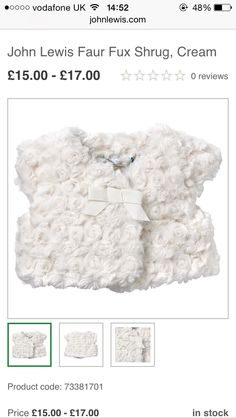 A/W GIRLS FAUX FUR SHRUG (all ages) JL
