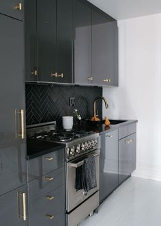 This Black High Gloss Kitchen Look Is So Unique. Find It Here: Http