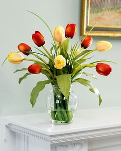 Sunflower Artificial Flower Vase Set Dining Table Shop Mixed Tulip Silk Flower Arrangement At Petals pertaining to ucwords]