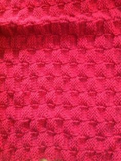 Hey, I found this really awesome Etsy listing at https://www.etsy.com/listing/288376085/handmade-knit-red-baby-blanket