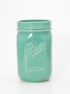 Pote Mason Jar Verde   Collector55 - Loja de Decoração Online - Collector55