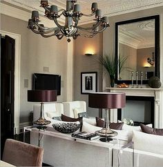 Love the gray walls with plum accents.