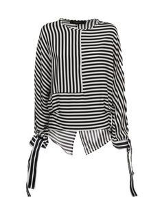 Federica Tosi Panelled Striped Blouse For the current deals on striped clothing Discount Womens Clothing, Womens Clothing Stores, Hijab Fashion, Fashion Outfits, Womens Fashion, Fashion Tips, Fashion 2018, Basic Wardrobe Pieces, Clothing Size Chart
