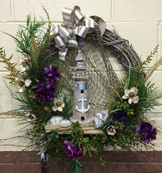 Lighthouse Wreath - $50  A personal favorite from my Etsy shop https://www.etsy.com/listing/290573253/lighthouse-wreath