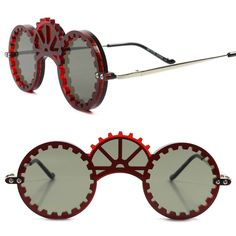 c2bb0dc7c3 Gear Cogwheel Victorian Steampunk Fashion Party Rave Costume Cosplay Sun  Glasses  EZ  SteampunkRound Funky