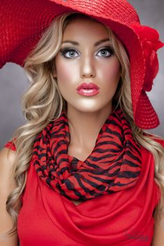 I wish women would start wearing hats again. They are so chic. #red #red_hat #red_dress