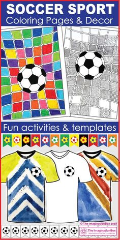 This fun soccer football theme art activity and decor resource is ideal for  school and home use if are you planning a World Cup party. f4db294e0