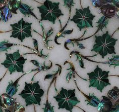 Items similar to Marble Inlay work end table tops handmade stone inlaid rose flowers on Etsy