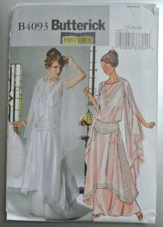 BUTTERICK 4093 Historical Dress Pattern FLOWING TUNIC NIGHTGOWN -Costume History