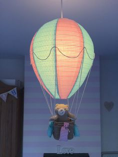 hot air balloon light shade nursery decor baby by WhyDontWeGoSOWK                                                                                                                                                                                 More