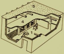 Berek's home is of Canaanite origin. The door is in the center and there is an extra room running along the south side, but the second floor is only partial.