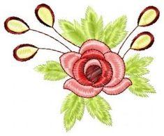 Flower free machine embroidery design. Machine embroidery design. www.embroideres.com
