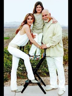Celine Dion, with late husband Rene Angelil and son René-Charles Angelil. Celine and René have two younger sons (Nelson and Eddie Angelil - Twins)