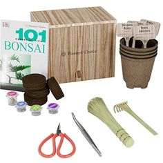 Premium Bonsai Starter Kit 101 Essential Tips Book and Complete Toolkit - in Unique Wooden Gift Box - Easily Grow 4 Trees from Seed * Check this awesome product by going to the link at the image. (This is an affiliate link) Diy Father's Day Gifts, Father's Day Diy, Top Gifts, Best Gifts For Men, Gifts For Dad, Fathers Day Gifts, Bonsai, Birthday Gift For Him, Unique Birthday Gifts