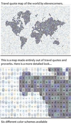 You saved to Etsy - elevencorners Travel quote map of the world print   world map print   housewarming gift   new home gift   traveler print   travel poster by elevencorners on Etsy #elevencorners #travelquotes