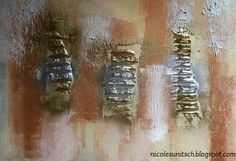 Nicole Sunitsch - Autorin - Hobbyautorin und Hobbykünstlerin: Neues Acrylbild auf Keilrahmen - Kupfer Szenario! Artwork, Painting, Canvas Frame, Wedges, Copper, Abstract, Work Of Art, Auguste Rodin Artwork, Painting Art