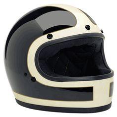 NEW! Biltwell Gringo LE Tracker Full Face Helmet - White/Black/Gold