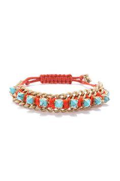10 So-Chic Friendship Bracelets Your BFF Might Just Steal #refinery29  http://www.refinery29.com/friendship-bracelet-trend#slide1  Rachel Rachel Roy Stone Cord Bracelet, $19, available at Rachel Roy.