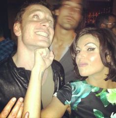 Credit Twitter / @RegalFamily: Here's @C t at the True Blood Party. Look at who's she's punching!