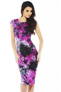 Tie Dye Midi Dress shopmodmint.com