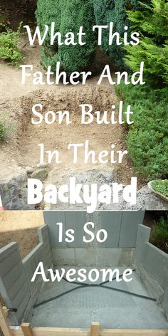 What This Father And Son Built In Their Backyard Is So Awesome. The End... OMG, I Want It.