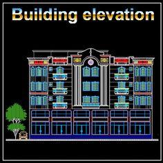 Download Building Elevation|Facade Design Drawings Now!! (https://www.cadblocksdownload.com/collections/all/building-elevation) Download CAD Drawings | AutoCAD Blocks | Building Elevation | Elevation Designs | Facade Design| | See