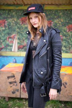 Sara Blomqvist at the 2013 Glastonbury Festival. The Best-Ever Summer Music Festival Street Style - Gallery - Style.com