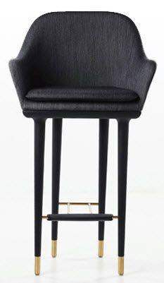 traditional bar chair LUNAR by P.B.Rutzou & S.B.Henrik STELLAR WORKS