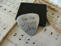 Love like Johnny & June - Custom Hand Stamped Guitar Pick by MyBella