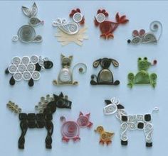 Farm Animals Quilling Kit includes Designs, Paper