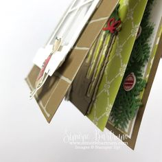 Stampin' Up! staircase: Double card front layout. Ready for Christmas bundle (from the 2017 Holiday Catalogue) and Heath & Home.