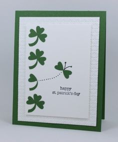 Patrick' Day Butterfly Stamps: Teeny Tiny Wishes By:jillastamps st patricks day wishes St. Patrick' Day Butterfly by jillastamps - Cards and Paper Crafts at Splitcoaststampers Happy St Patricks Day, Diy St Patricks Day Cards, Saint Patricks, Cool Cards, Creative Cards, Greeting Cards Handmade, Homemade Cards, Holiday Cards, Cardmaking