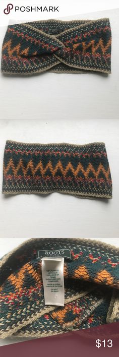 Roots pattern headband Roots (Canadian brand) colorful pattern fall/winter headband - perfect condition worn only once Roots Accessories Hair Accessories