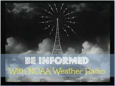 When a storm is brewing and during a storm, check weather forecasts frequently.   Fast Track Tip #11: Be Informed With NOAA Weather Radio | Backdoor Survival