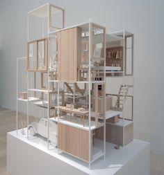 sou fujimoto: house NA model at the museum of contemporary art tokyo, japan image © designboom