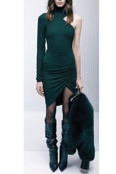 Fir Green Draped Skirt from Alexandre Vauthier AW15/16.  http://www.precouture.com/en/3-fashion-designers-clothing-eshop#/designer-alexandre_vauthier