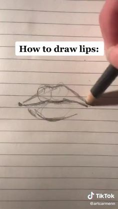 Art Drawings Sketches Simple, Pencil Art Drawings, Sketch Art, How To Sketch, Lips Sketch, Drawing Lips, Digital Art Tutorial, Diy Canvas Art, Drawing Challenge