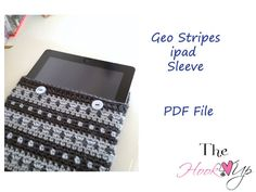 iPad sleeve, cozy, case- CROCHET PATTERN- permission to sell finished product. $4,00, via Etsy.