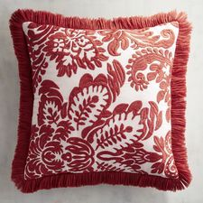 Embroidered Damask Spice Pillow