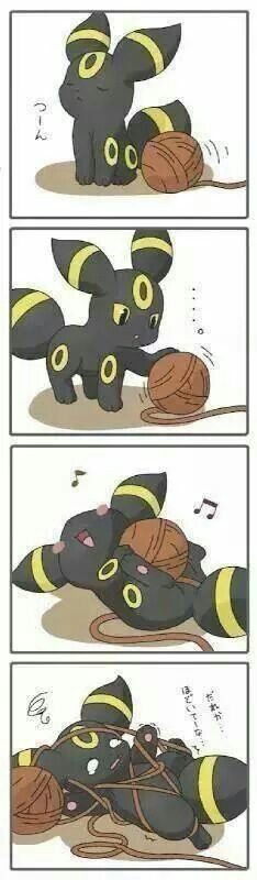 So kawaii! Little umbreon Pokemon Mew, Pokemon Fusion, Pokemon Eeveelutions, Pokemon Comics, Eevee Cute, Fotos Do Pokemon, Pokemon Mignon, Pokemon Original, Chibi