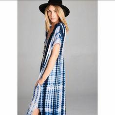 Tie Dye Boho Maxi Dress with Pockets Tie Dye Boho Maxi Dress with Pockets  Nwot bell Dresses Maxi